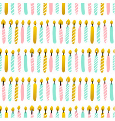 party candles seamless pattern vector image