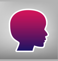 people head sign purple gradient icon on vector image