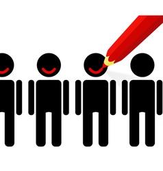 People satisfaction vector