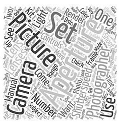 Photography text background wordcloud concept vector image vector image