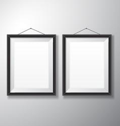 Picture Frames Black Vertical vector