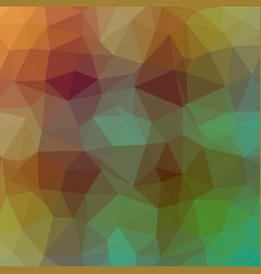 polygonal background in mint and caremal brown vector image
