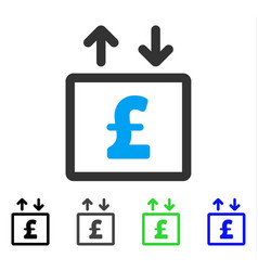 Pound money elevator flat icon vector