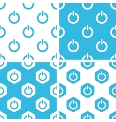 Power sign patterns set vector