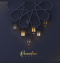 Ramadan kareem greeting card vector