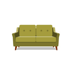 realistic green sofa with on background vector image