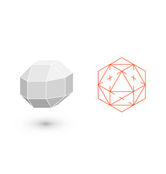 rhombicuboctahedron is a geometric figure hipster vector image