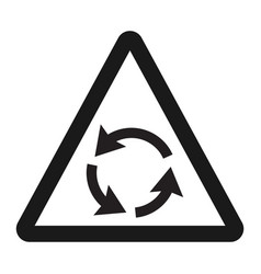 Roundabout sign line icon traffic and road sign vector