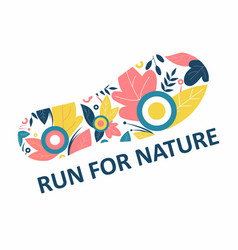 Run for nature track from sneaker concept vector