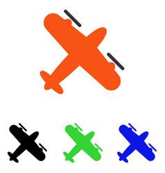 Screw aeroplane flat icon vector
