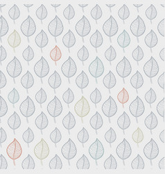 seamless leaf pattern on a beige background vector image