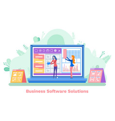 software solutions laptop and develop app vector image