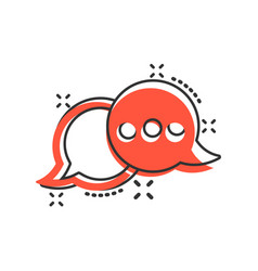 Speak chat sign icon in comic style speech vector