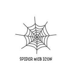 spider web icon simple flat style vector image