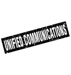Square grunge black unified communications stamp vector