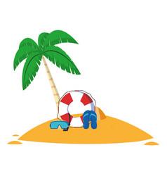 Summer and beach cartoons vector
