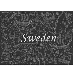 Sweden chalk vector