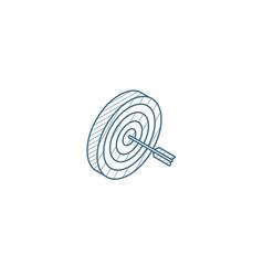 target goal success isometric icon 3d line art vector image