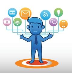 Technology Man vector image