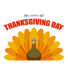 thanksgiving day concept background flat style vector image