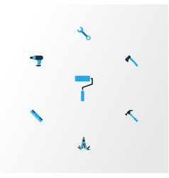 Tools colorful icons set collection of repair vector