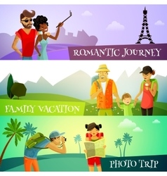 Traveling Banners Set vector