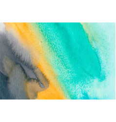 Turquoise orange and blue watercolor vector