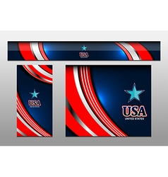 USA Color Banner backgrounds vector image