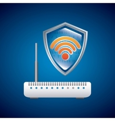 wifi connection and router icon vector image
