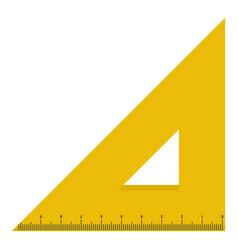 yellow triangular ruler icon flat style vector image