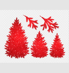collection of christmas trees and branches vector image vector image