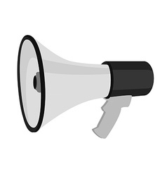 Grey megaphone vector image