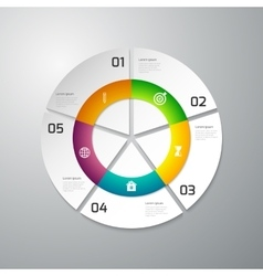infographics paper circle vector image