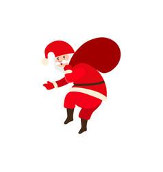 naughty santa claus carrying christmas presents vector image vector image