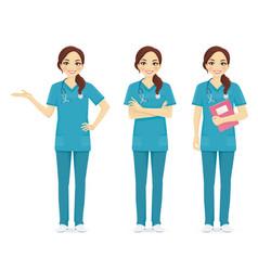 nurse set vector image vector image
