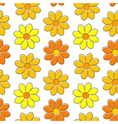 Seamless pattern with yellow camomiles vector image vector image