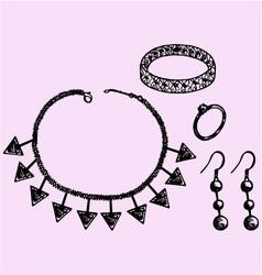 Women jewelry accessories vector image
