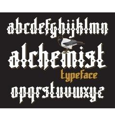 Alchemist gothic font vector image vector image
