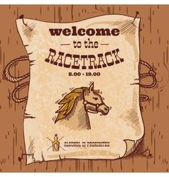 Racetrack retro poster vector image vector image