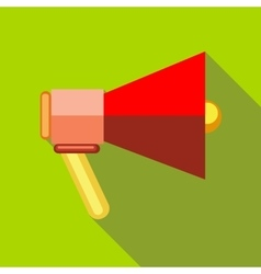 Red loudspeaker icon flat style vector image vector image