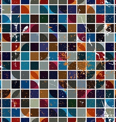 Seamless geometric tiles pattern in vintage style vector