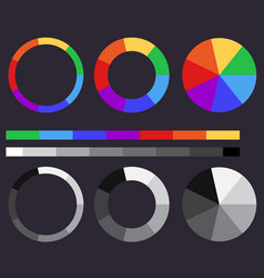 set of color gradients color circle vector image vector image
