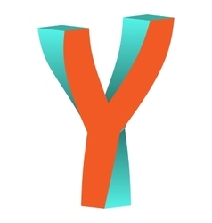 Twisted Letter Y Logo Icon Design Template Element vector image vector image