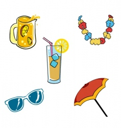 vacation vectors set vector image vector image