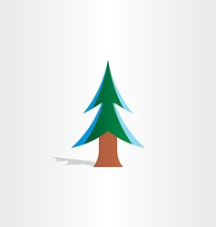 christmas tree with snow icon vector image