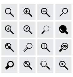 magnifying icon set vector image vector image