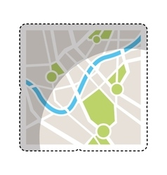 map paper guide isolated icon vector image