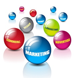 Marketing with balls vector image vector image