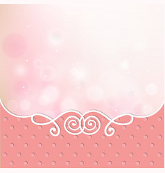 pink card frame cover vector image vector image