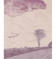 vintage landscape vector image vector image